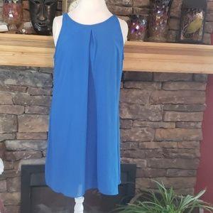 Chiffon royal blue Dress sz XL
